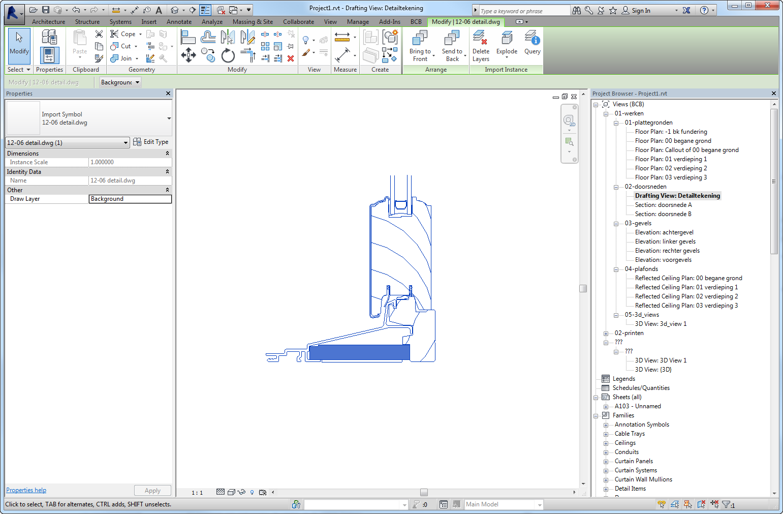 Autocad tekeningen openen en gebruiken in revit lt for Tekening op schaal maken