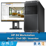 HP Z4 Workstation geoptimaliseerd voor Revit / Civil 3D / Inventor
