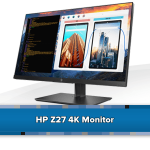 HP monitor: Z27s - 27'' 4K Ultra HD type - Zwart